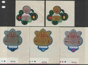 Tonga-1976-SG563-567-Olympic-Games-Montreal-Airmail-set-MNH