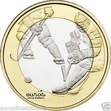5 euros commémorative FINLANDE 2016 - Les Sports  - Le Hockey - UNC - 5/9