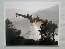 PHOTO PRESSE AVION CANADAIR CL-215 AMPHIBIAN FIRE FIGHTER FEU FORET PELICAN