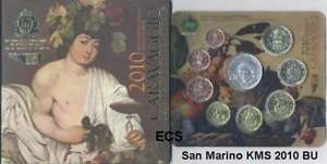 San-Marino-offiz-Euro-KMS-2010-BU-Stgl-mit-5-Silber-Caravaggio