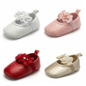 0-18 M Newborn Infant Baby Girl Spanish Style Patent Pram Shoes Mary Jane Shoes