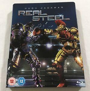Real Steel 2011 Limited Edition Steelbook Blu Ray Region Free Vgc 8717418470739 Ebay