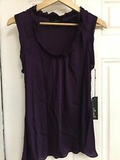 Women's Willi Smith Sleeveless Rufle Top Bluse, Purple Size L