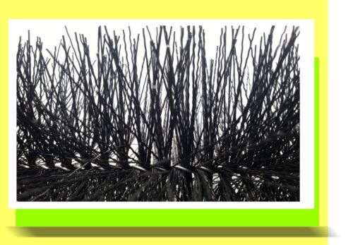 3 Stück Filterbürste 80 cm Teichbürste für Gartenteich u Koiteich Teichfilter
