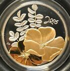 2005 CANADA 50 CENT .925 STERLING SILVER COIN - The Golden Rose - Box,Case&COA