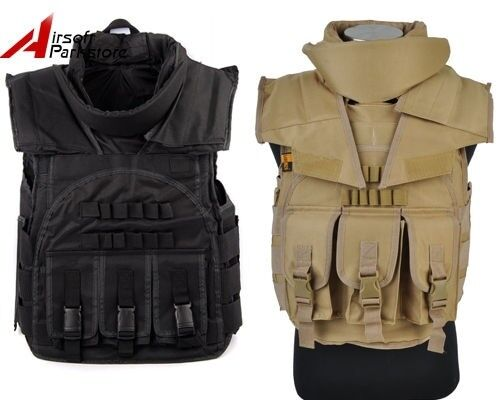 Tactical Military SDU Plate Carrier Combat Vest Airsoft Paintball Wargame Tan BK
