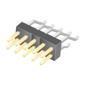 HQ 8P 8-Pin 1.27mm Straight Male Header Pack of 10 Black