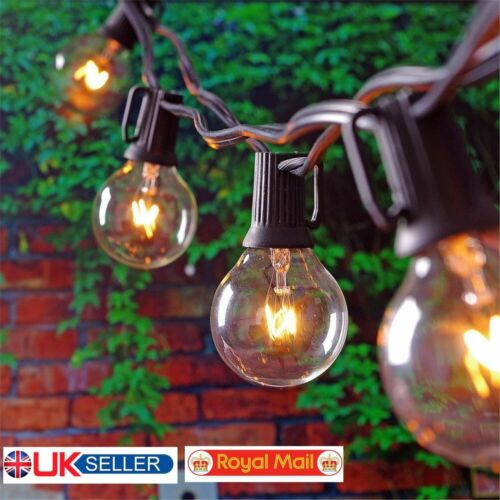 Outdoor Globe String Festoon Lights G40 Bulbs 25FT Warm White 25 BULB for Garden