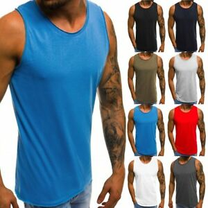 Gym-Men-039-s-Muscle-Sleeveless-Tank-Top-Tee-Shirt-Bodybuilding-Sport-Fitness-Vest