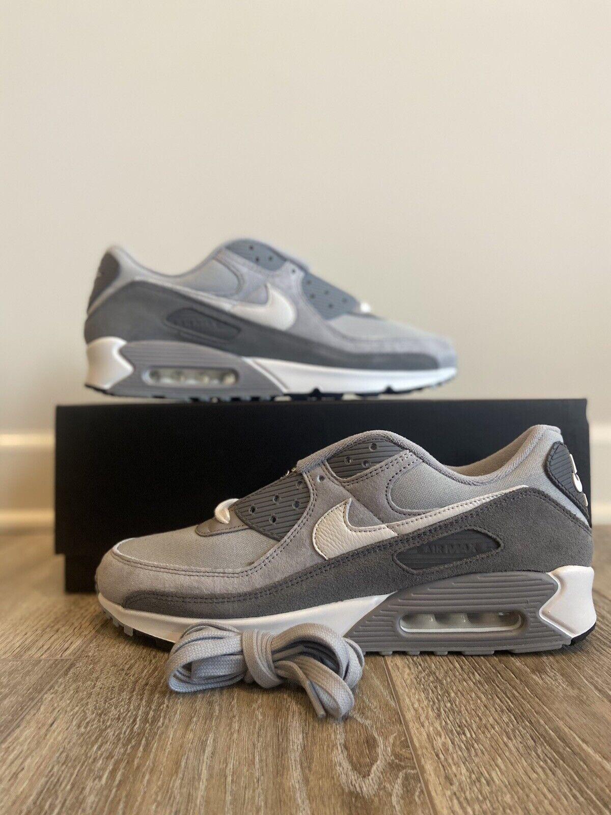 Size 8.5 - Nike Air Max 90 Premium Light Smoke Gray for sale ...