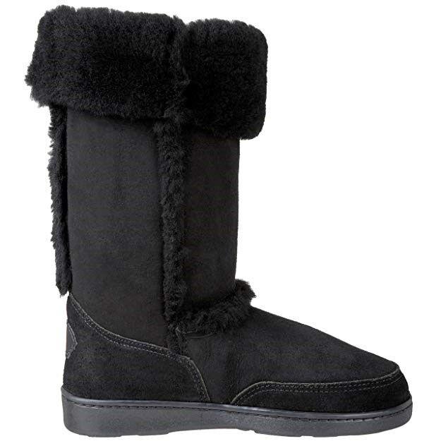 Minnetonka 3591 Sheepskin señora botas óptica óptica óptica negro Gr. 42  nuevo  (1424)  edición limitada en caliente