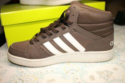 Adidas VS Neo Hoops Mid Shoes Dark Brown White Bask… - Gem
