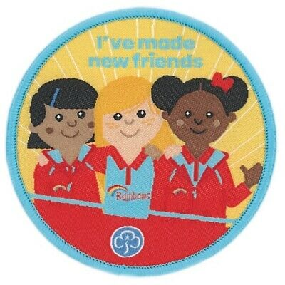 RAINBOWS I/'VE BEEN ON A TRIP CLOTH BADGE OFFICIAL RAINBOW UNIFORM STOCKISTS NEW