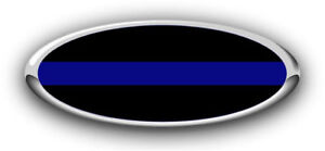 NEW Fits various Ford Models Thin Blue Line Logo Overlay Decals 3PC Kit!