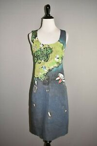 AKRIS-PUNTO-1290-Surfer-Print-Sleeveless-Scoop-Neck-Sheath-Dress-Size-6