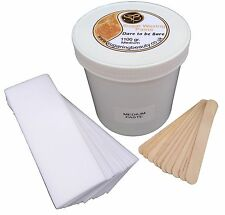 1100gr Sugar Waxing Paste, Strips & Spatulas. Gentlest Hair removal,100% Natural