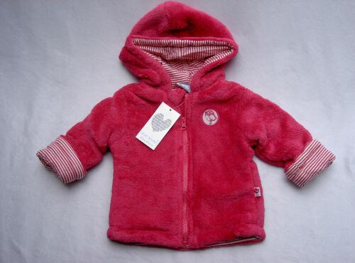 NEU ✿ Fluffige Babyjacke Jacke mit Kapuze Gr.68 Pink ✿ leicht gefüttert ✿