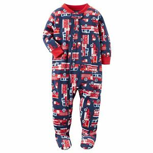 8f9bc9446a4a Carters NWT 6 12 18 24 Month 2T 3T 4T 5T Footed Fleece Pajama Baby ...