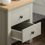 thumbnail 6 - Arlington 2 Drawer Bedside Chest of Drawers Table Cabinet Bedroom Storage Grey