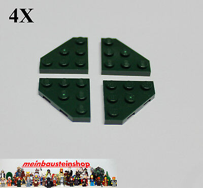 10x 245021 Brick 2450 LEGO NEW 3x3 Red Plate without Corner