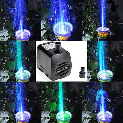 210 GPH (800L/H) Submersible Water Pump For Aquarium Tank Garden Fountain Pond