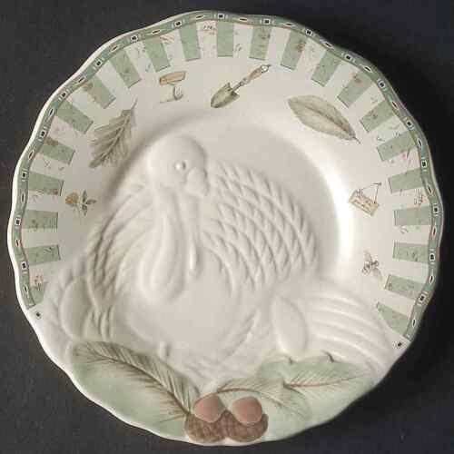 Pfaltzgraff NATUREWOOD Turkey Embossed Buffet Plate 6488884