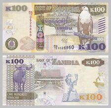 Sambia / Zambia 100 Kwacha 2015 p61 unz.