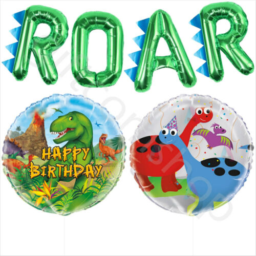 Dinosaur Party Balloons Kids Childrens Birthday Decorations Dino Foil Balloons