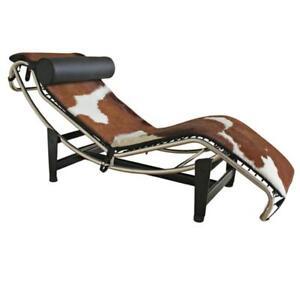 Le Corbusier Genuine Ponyskin Top Grain Leather Chaise