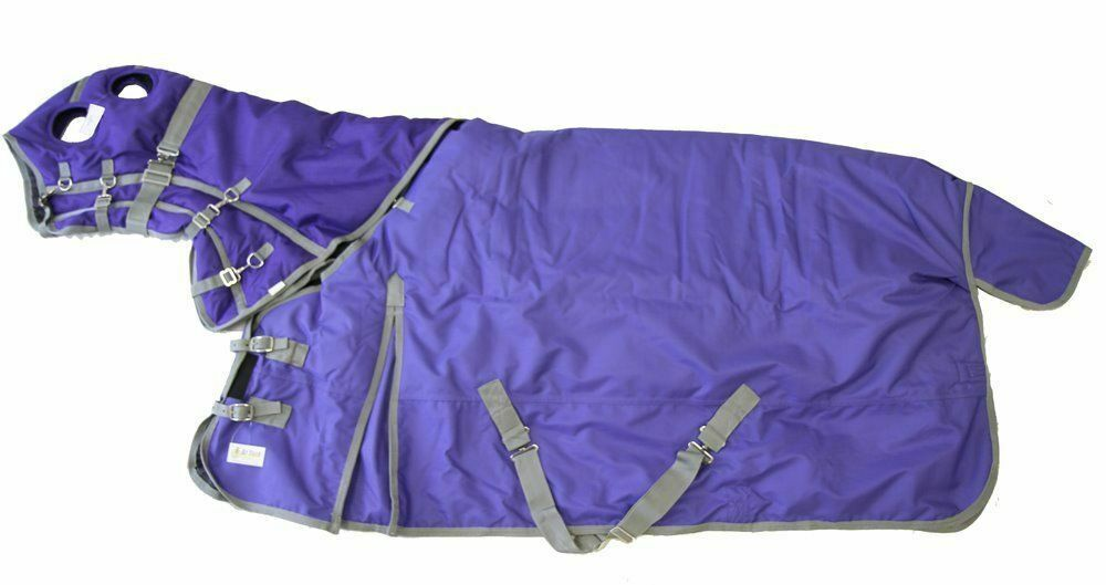 cavallo Turnout Blanket Hood Combo Waterproof Ripstop 1200D Heavy Weight viola