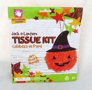 Halloween-Pumpkin-Jack-O-Lantern-Tissue-Kit-Art-Craft-School-Project-Party-Decor