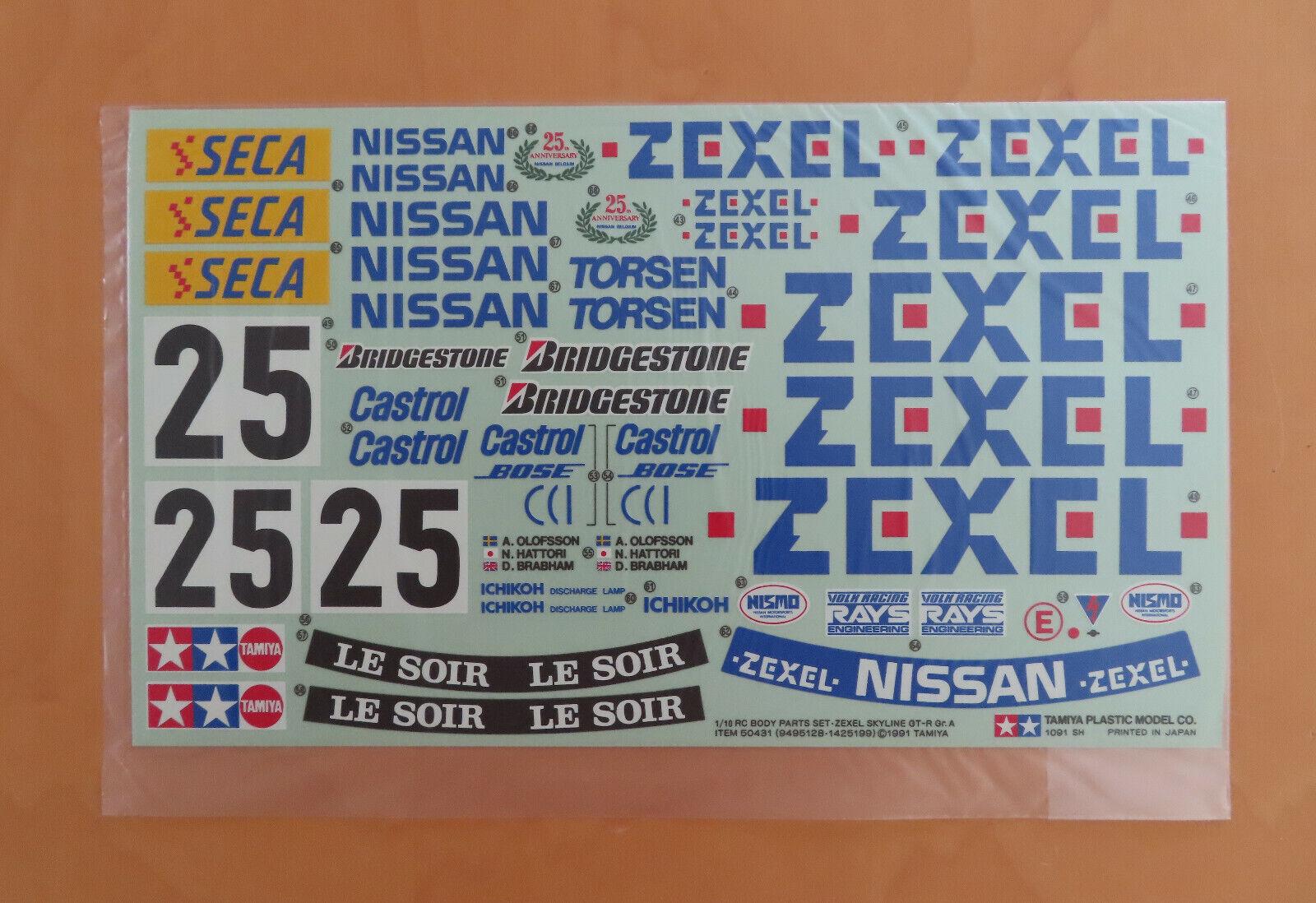 vendita online RC Tamiya DECAL NISSAN cieloLINE ZEXEL ZEXEL ZEXEL r32 MIS. a 50431 nuovo NIB 1991  marchio famoso
