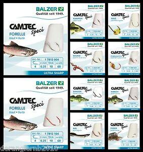 Balzer-Camtec-Spezi-Haken-Aal-Zander-Forelle-Karpfen-Wurm-Barsch-Weissfisch-Mais