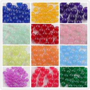 Wholesale-Jade-Gemstone-Round-Loose-Spacer-Beads-Jewelry-Making-DIY-6-8-10mm