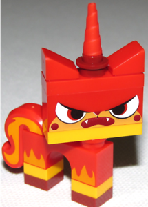 LEGO Movie Angry Kitty Minifigure Red Unikitty New From Set 70814 Minifig