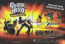 "Guitar Hero World Tour ""Coming Autumn"" 2008 Magazine 2 Page Advert #5020"
