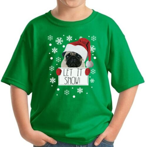 Youth Let It Snow Kids T shirts Shirts Christmas Gifts for Dog Lovers