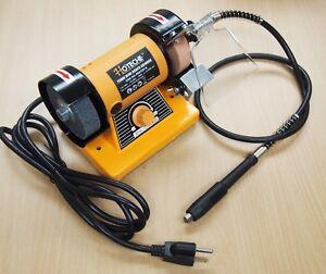 Mini-Bench-Grinder-3-034-Variable-Speed-Rotary-Flex-Shaft