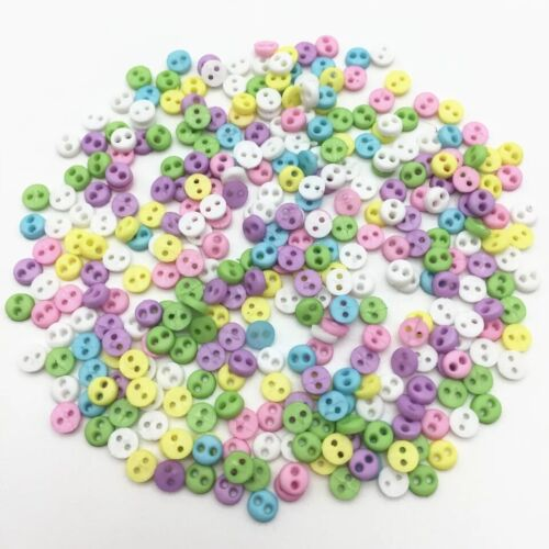 Doll Craft Sewing Mixed Pastel Colour Tiny Baby Mini 4mm Buttons