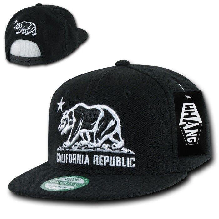 Mens Womens Baseball Hat California Roar Bear Snapback Casual Caps