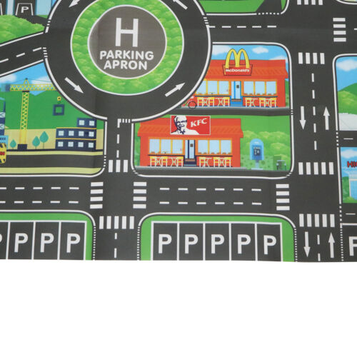 Traffic Road Play Mat Car Game Toy Baby Child Crawling Carpet Rug Education