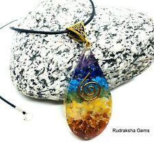 Orgone Generator Chakra Pendant Reiki Charged Copper Coils EMF protect Necklace