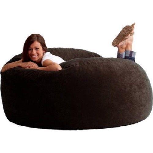 Stupendous Giant 6Ft Bean Bag Fuf Lounger Chair Oversize Dorm Room Foam Cozy Sofa Xl Machost Co Dining Chair Design Ideas Machostcouk