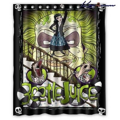 New Beetlejuice Cartoon Poster Custom Shower Curtains Polyester 60x72 Inchi Ebay