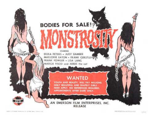 1964 MONSTROSITY VINTAGE HORROR MOVIE POSTER PRINT STYLE B 18x24 9MIL PAPER