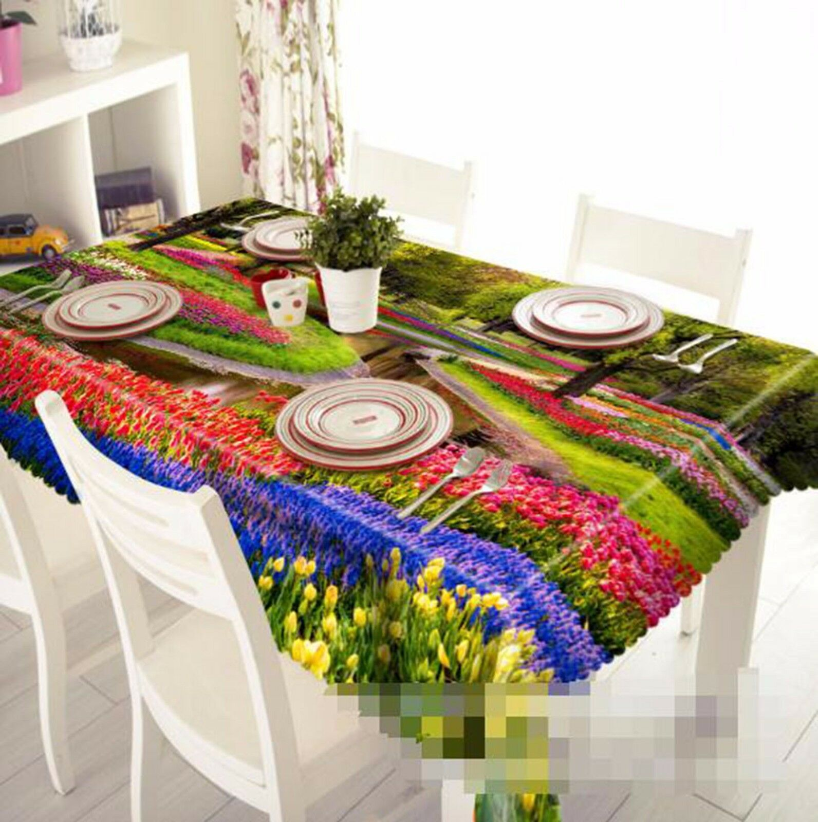 3D Parterre 5 Tablecloth Table Cover Cloth Birthday Party AJ WALLPAPER UK Lemon