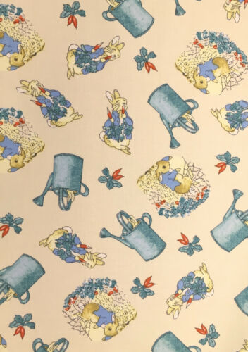 A4 Adhesive Backed Fabric Peter Rabbit /& Watering Can EASTER//SPRING Ivory