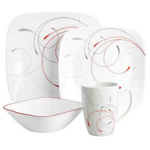 Corelle square Splendor 16PC dinnerware set #XmasBonus