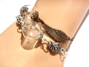 Image Is Loading Dandelion Bracelet Or Anklet Bronze Silver Wings Flowers