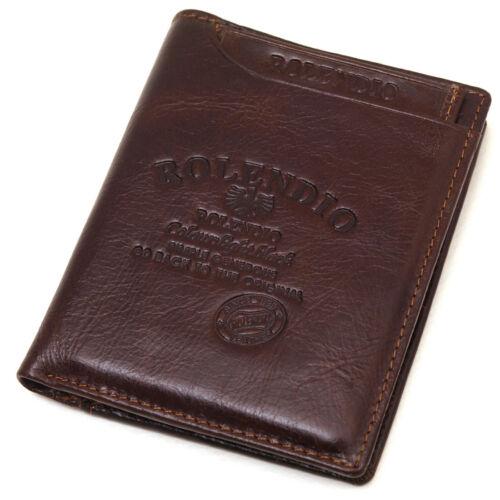 Vintage Style Credit Card Men/'s Leather Wallet PLUS Mini ID Wallet Purse-J342